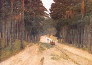 """Józef Chełmoński """"Droga w lesie"""""""